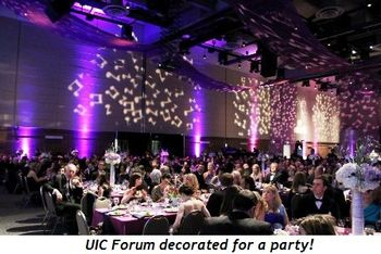 Blog 12 - UIC Forum decorated for a party!