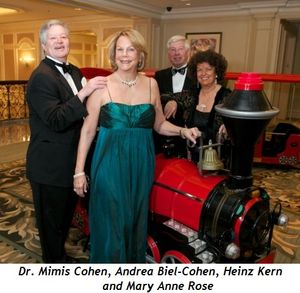 Blog 1 - Dr. Mimis Cohen, Andrea Biel-Cohen (gala co-chair), Heinz Kern, Mary Ann Rose (gala co-chair)