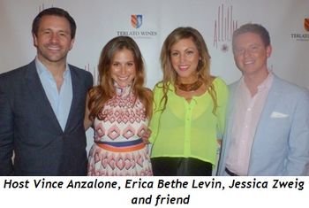 Blog 2 - Host Vince Anzalone, Erica Bethe Levin, Jessica Zweig and friend