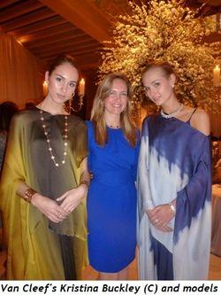 Blog 3 - Van Cleef's Kristina Buckley surrounded by models