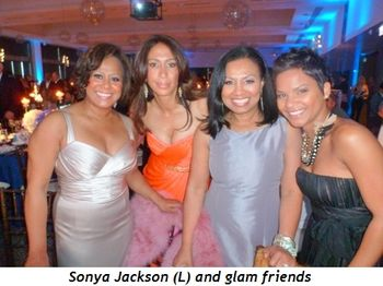 Blog 4 - Sonya Jackson (L) and glam friends