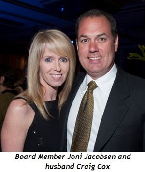 Blog 3 - Board member Joni Jacobsen and husband Craig Cox