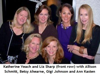 Blog 1 - Top Allison Schmitt, Betsy Ahearne, Gigi Johnson, Ann Kasten Front Katherine Veach, co-chair Liz Sharp