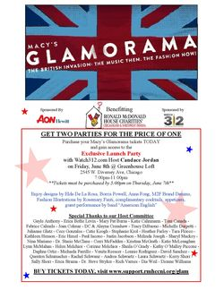 Glamorama and Launch Party Invite