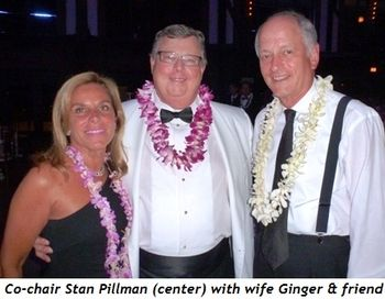 Blog 2 - Co-chair Stan Pillman (center), wife Ginger and friend