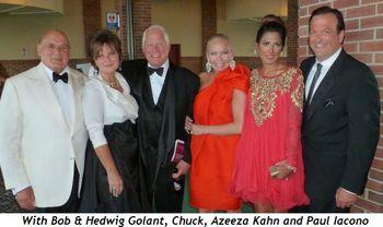 Blog 8 - With Bob and Hedwig Golant, Azeeza Khan and Paul Iacono