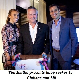 Blog 1 - Tim Smithe presents baby rocker to Rancics