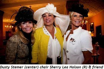 Blog 1 - Dusty Stemer (center), chair Sherry Lea Holson (R), and friend