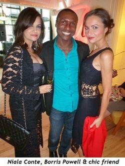 Blog 3 - Niala Conte, Borris Powell and chic friend