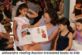 Blog 7 - Aleksandra reading Russian translated book to kids