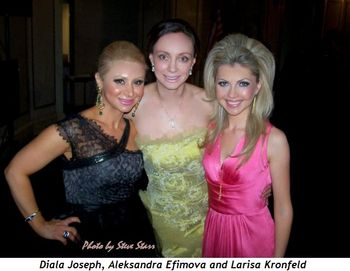 Diala Joseph, Aleksandra Efimova and Larisa Kronfeld