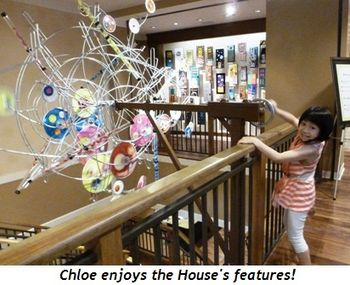 Blog 10 - Chloe enjoys the House's features!