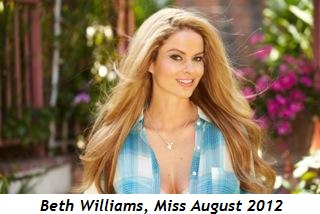 Blog 2 - Beth Williams, Miss August 2012