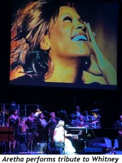 Blog 8 - Aretha performs tribute to Whitney