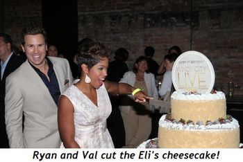 Blog 1 - Ryan and Val cut the Eli's cheesecake!