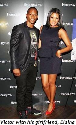 Victor Cruz and girlfriend Elaina