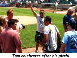 Blog 3 - Tom Strehle celebrates after the pitch!