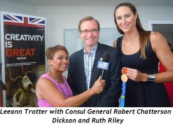 Blog 3 - Leeann Trotter with Consul General, Robert Chatterson Dickson, Ruth Riley