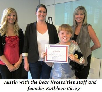 Blog 2 - Austin with the Bear Necessities staff and founder Kathleen Casey