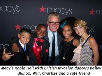 Blog 9 - Macy's Robin Hall with British Invasion Dancers (Bailey Munoz, Will, Charlize and cute friend)
