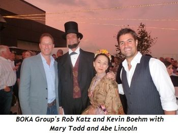 Blog 1 - Boka Groups' Rob Katz and Kevin Boehm with Mary Todd and Abe Lincoln