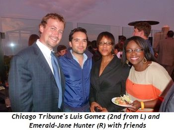 Blog 2 - Chicago Tribune's Luis Gomez (2nd from L) and Emerald-Jane Hunter (R) with friends
