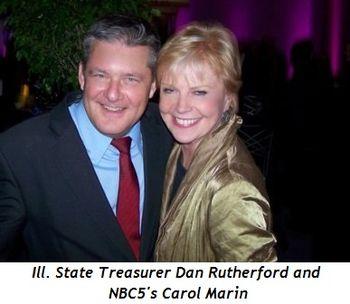 Blog 5 - Ill. State Treasurer Dan Rutherford and NBC 5's Carol Marin