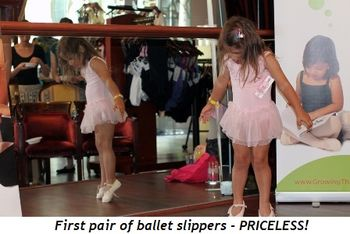 Blog 8 - First pair of ballet slippers, priceless!