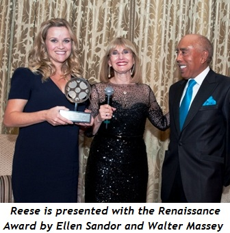Blog 2 - Reese is presented with award by Ellen Sandor and Walter Massey