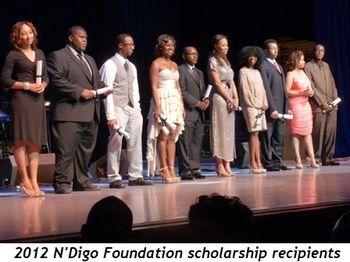 Blog 3 - 2012 N'Digo Foundation scholarship recipients