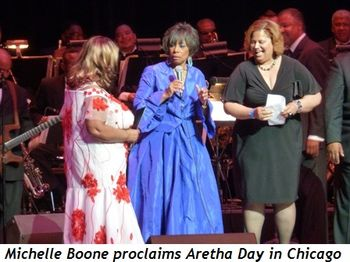 Blog 7 - Michelle Boone proclaims Aretha Day in Chicago