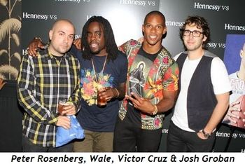 Peter Rosenburg, Wale, Victor Cruz and Josh Groban