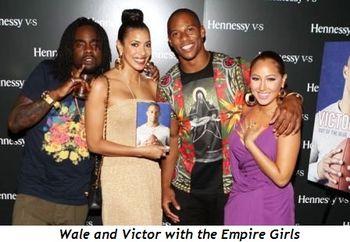 Victor Cruz and Hennessey girls