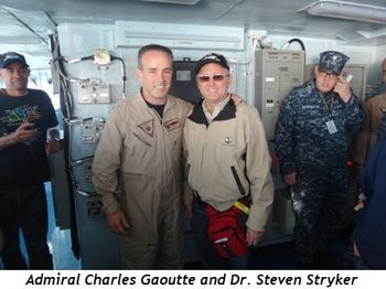 Admiral Charles Gaoutte and Dr. Steve Stryker