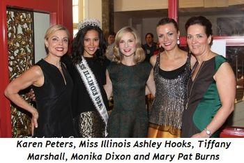Blog 2 - Karen Peters, Miss Illinois Ashley Hooks, Tiffany Marshall, Monika Dixon and Mary Pat Burns