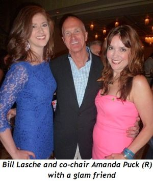Blog 1 - Bill Lasche, co-chair Amanda Puck (R) and glam friend