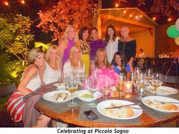 Blog 4 - Celebrating at Piccolo Sogno