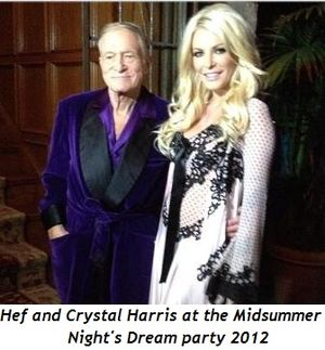 Hef and Crystal Harris at Midsummer Night's Dream party 2012