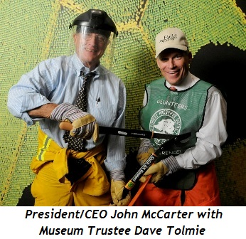Blog 1 - President-CEO John McCarter with Museum Trustee Dave Tolmie
