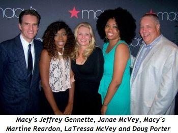 Blog 7 - Macy's Jeffrey Gennette, Janae LaVey, Macy's Martine Reardon, LaTressa McVey, Doug Porter