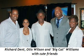 "Blog 5 - Richard Dent, Otis Wilson and ""Big Cat"" Williams with cute friends"