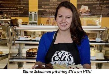 Elana Schulman pitching Eli's on QVC!