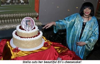 Blog 1 - tella cuts her beautiful Eli's cheesecake!
