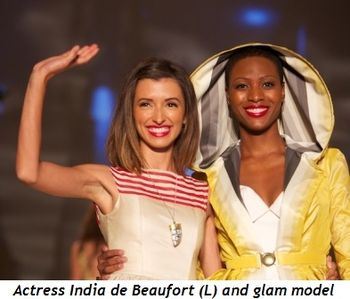 Blog 1 - Actress India de Beaufort (L) and glam model