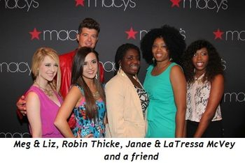 Blog 1 - Meg & Liz, Robin Thicke, Janae and LaTressa McVey and friend