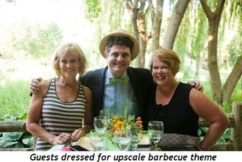 Blog 4 - Guests dressed for upscale barbecue theme