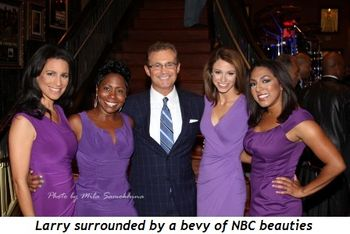 Blog 2 - Larry surrounded by a bevy of NBC Beauties