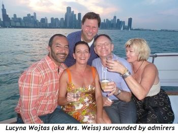 Blog 3 - Lucyna Wojtas (aka Mrs. Weiss) surrounded by admirers