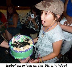 Blog 7 - Isabel surprised on her 9th BD!