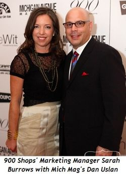 Blog 3 - 900 Shops Marketing Mngr. Sarah Burrows with Mich Mag's Dan Uslan, event sponsor